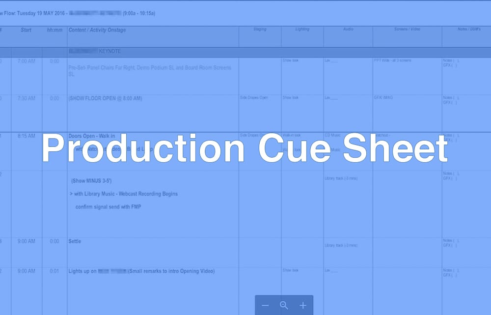 What Is A Production Cue Sheet