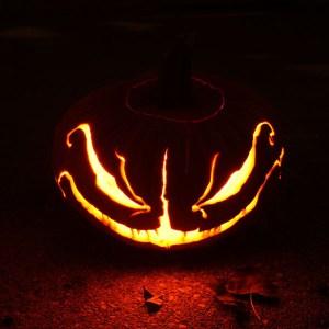 Expertly carved Jack O' Lantern