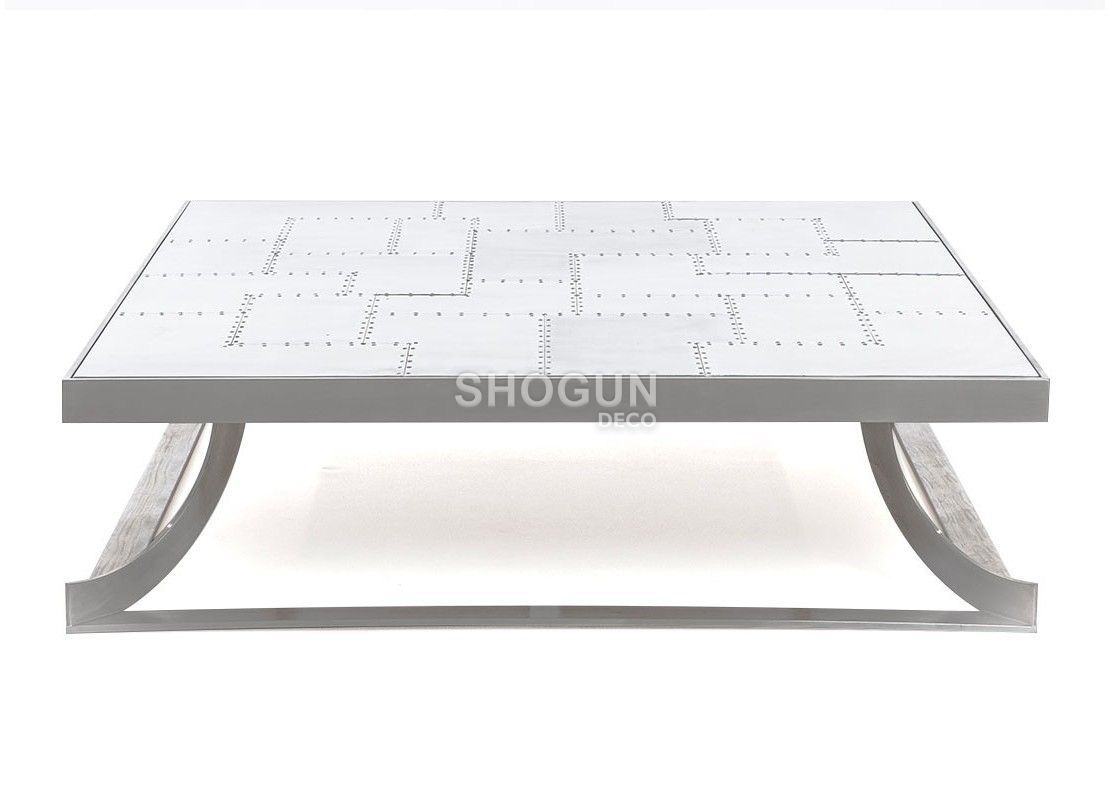 Table Carrée Aluminium Table Basse Carrée Aéro En Aluminium Riveté