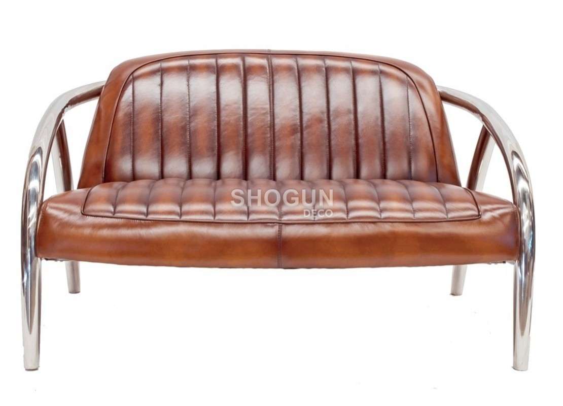 Canape Cuir Marron 2 Places Canapé Quad Marron 2 Places Inox Et Cuir