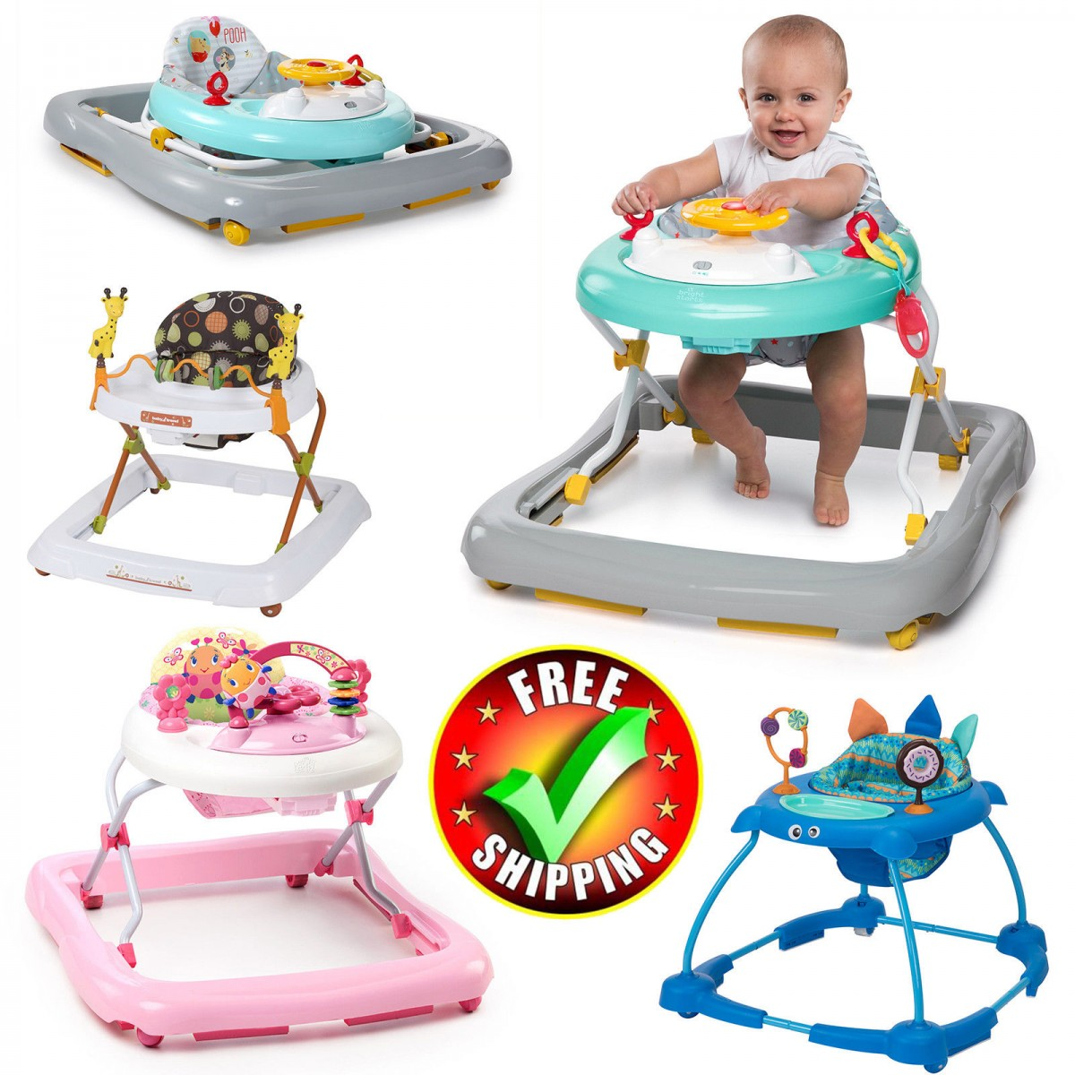 Baby Activity Center Baby Walker Activity Center Gym Exersaucer Child Toy Toddler Car Disney