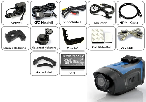 Lan Kabel Action Hd Helmkamera / Sport Camcorder / Action Kamera Mit