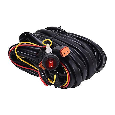 KC Hilites Wiring Harness for Two Backup Lights with 2-Pin Deutsch