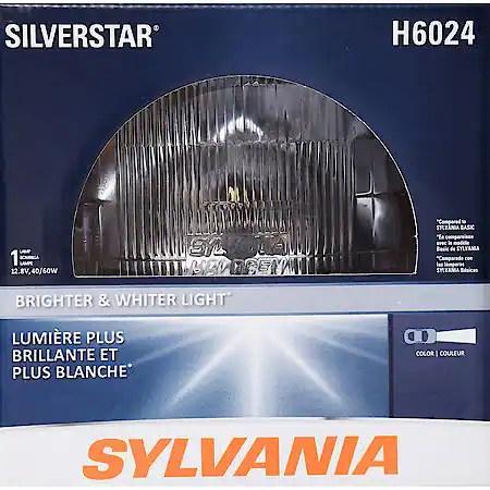 Sylvania H6024 SilverStar Sealed Beam Bulb, Box of 1 H6024STBX