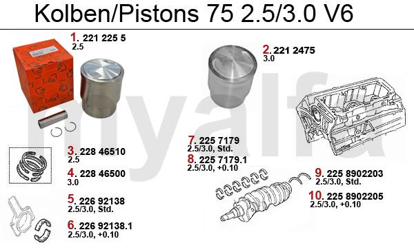 Alfa Romeo PISTONS/BEARINGS 6-Cyl - PISTONS/BEARINGS - ENGINE