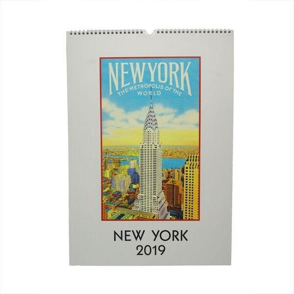 New York 2019 Vintage Wall Calendar AMNH Shop