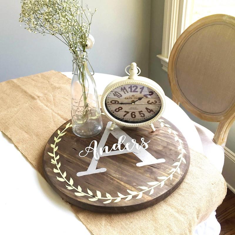 monogrammed serving platter