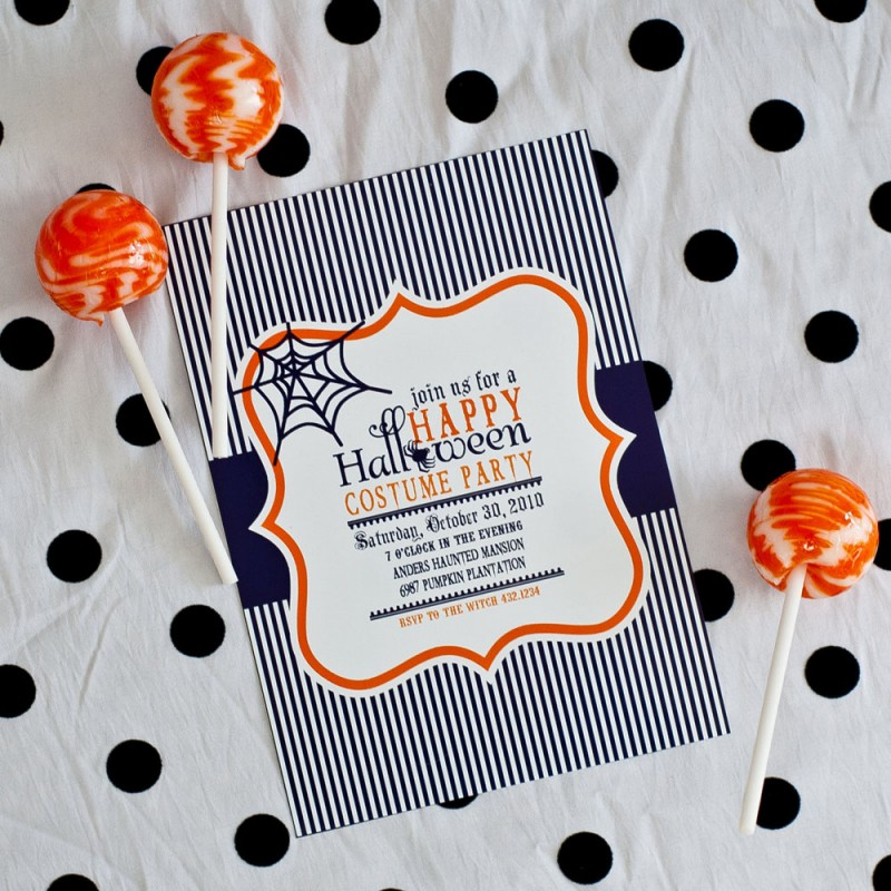 Happy Halloween Party Printable Invitation - invitation for halloween party