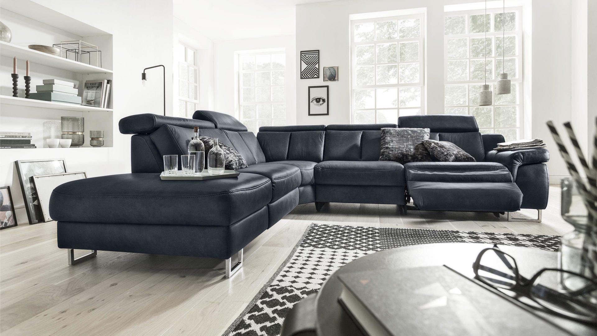 Wohnzimmer Couch Blau Bequem Blaue Couch In Weiss Wohnzimmer