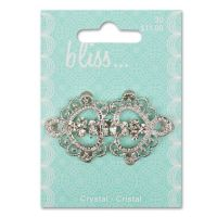 Crystal Scroll Buckle 340000030 - Blumenthal Lansing buttons