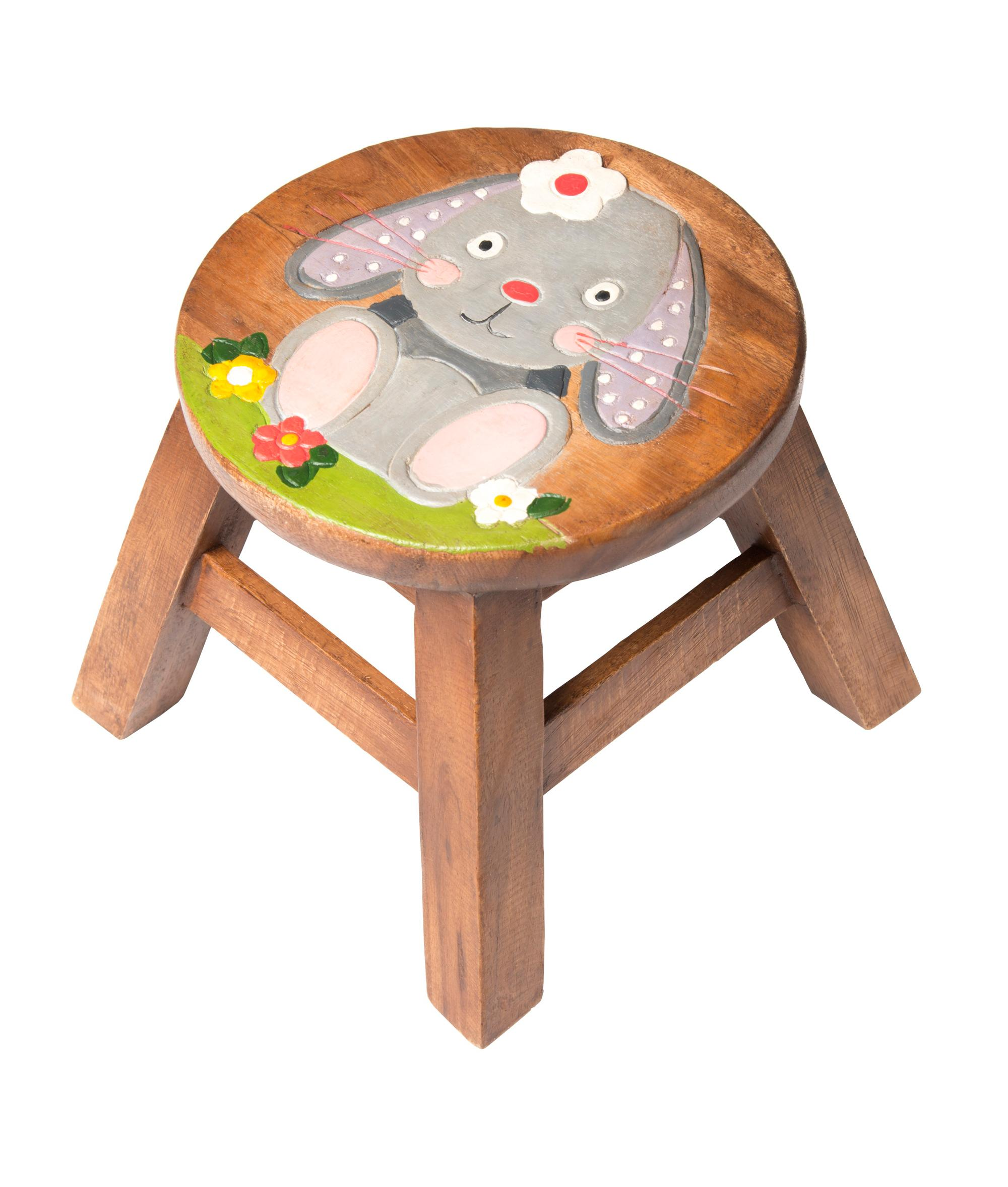 Kids Wooden Stool Kids Bunny Wooden Stool Cancer Research Uk Online Shop