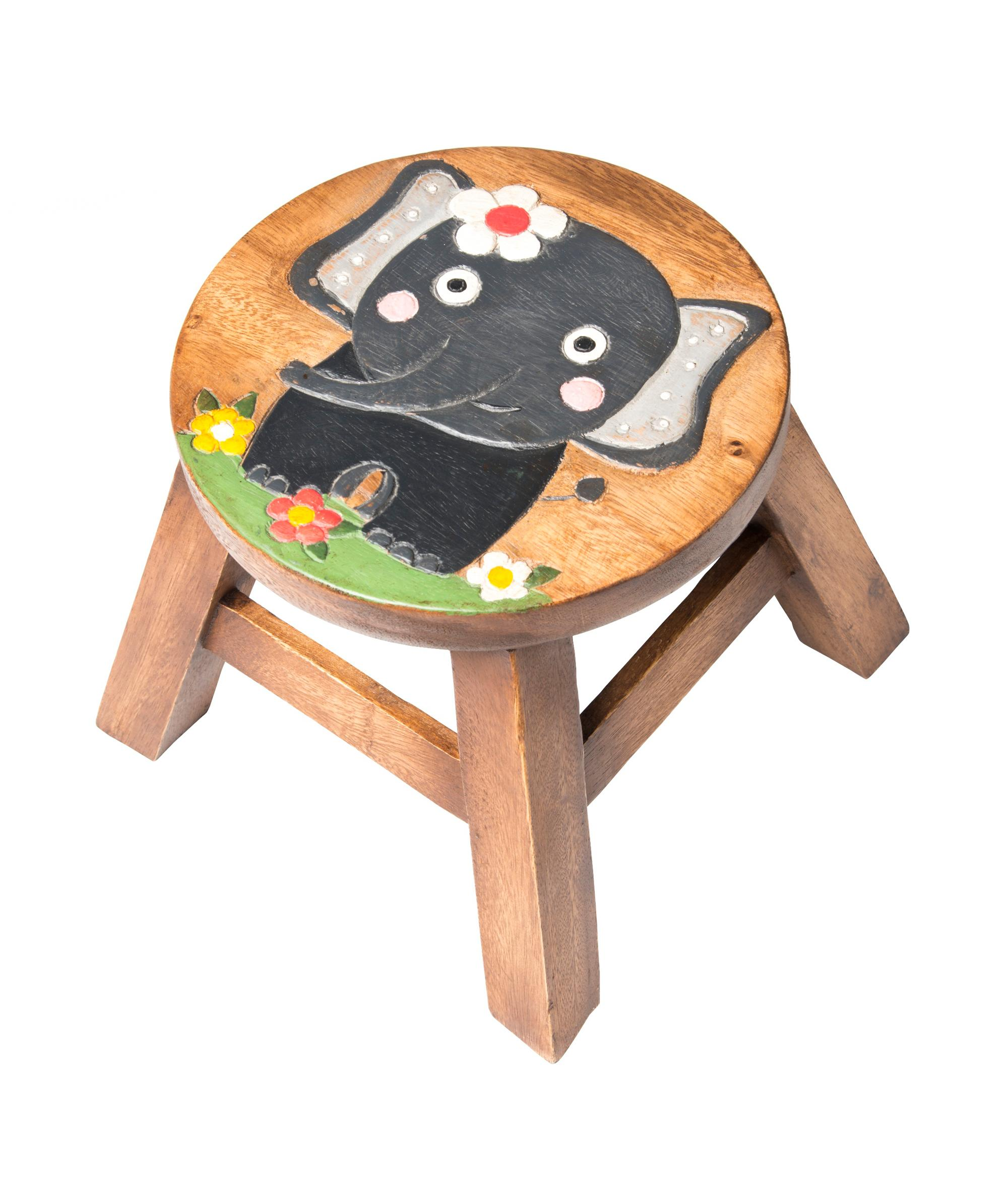 Kids Wooden Stool Kids Elephant Wooden Stool Cancer Research Uk Online Shop