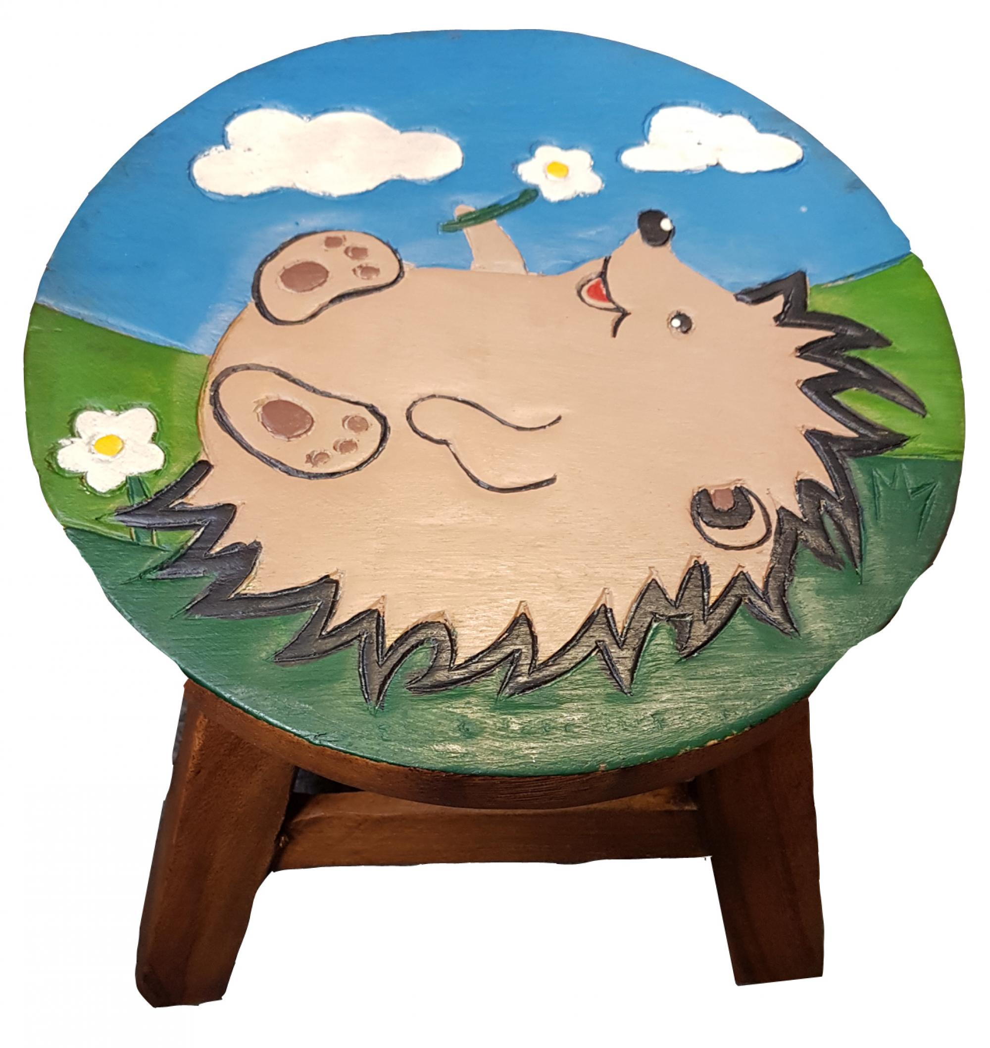 Kids Wooden Stool Kids Hedgehog Wooden Stool Cancer Research Uk Online Shop