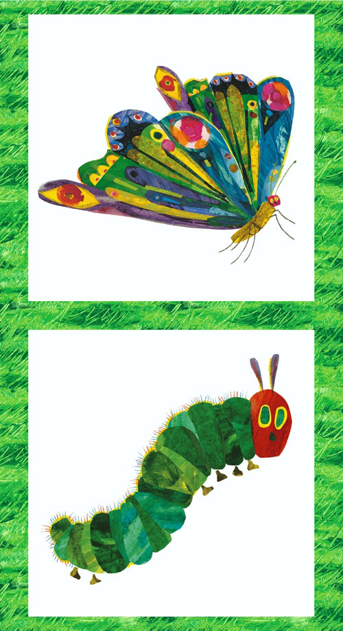 Very Hungry Caterpillar Double Panel Fabric The Eric Carle Museum