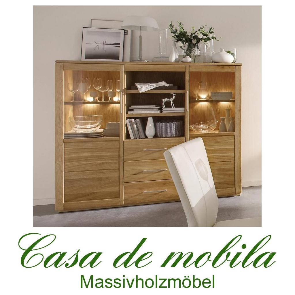 Esszimmer Wildeiche Massiv Vitrine Highboard Wildeiche Massiv Bio Geölt 2 432 433 Oxford