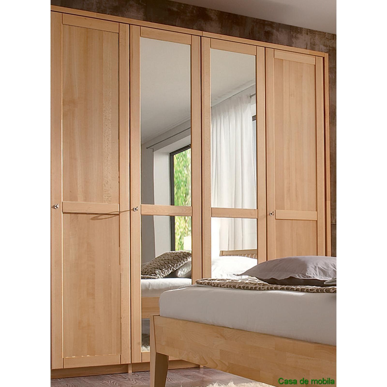 echtholz kleiderschrank schlafzimmerschrank buche massiv