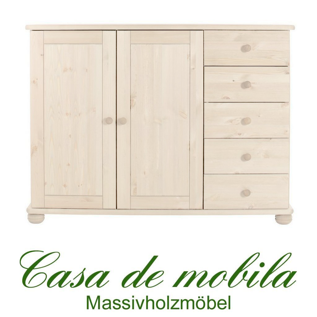massivholz sideboard anrichte highboard holz kiefer massiv