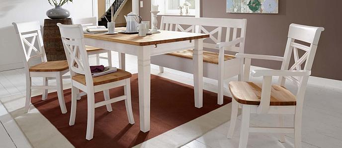 Landhausmöbel - Esstische, Stühle und Kastenmöbel in 5 - esszimmer weiss