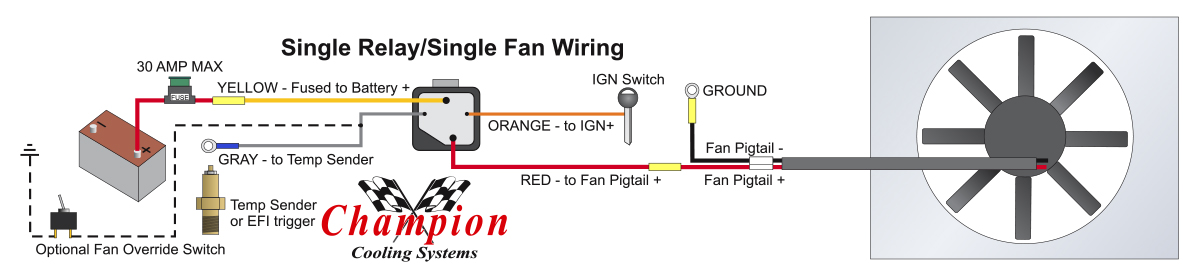 automotive cooling fan relay wiring diagram no
