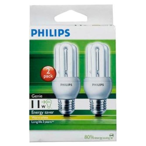 Philips Lamp Nz Buy Philips Genie Light Bulb Screw 11w Warm White 2pk