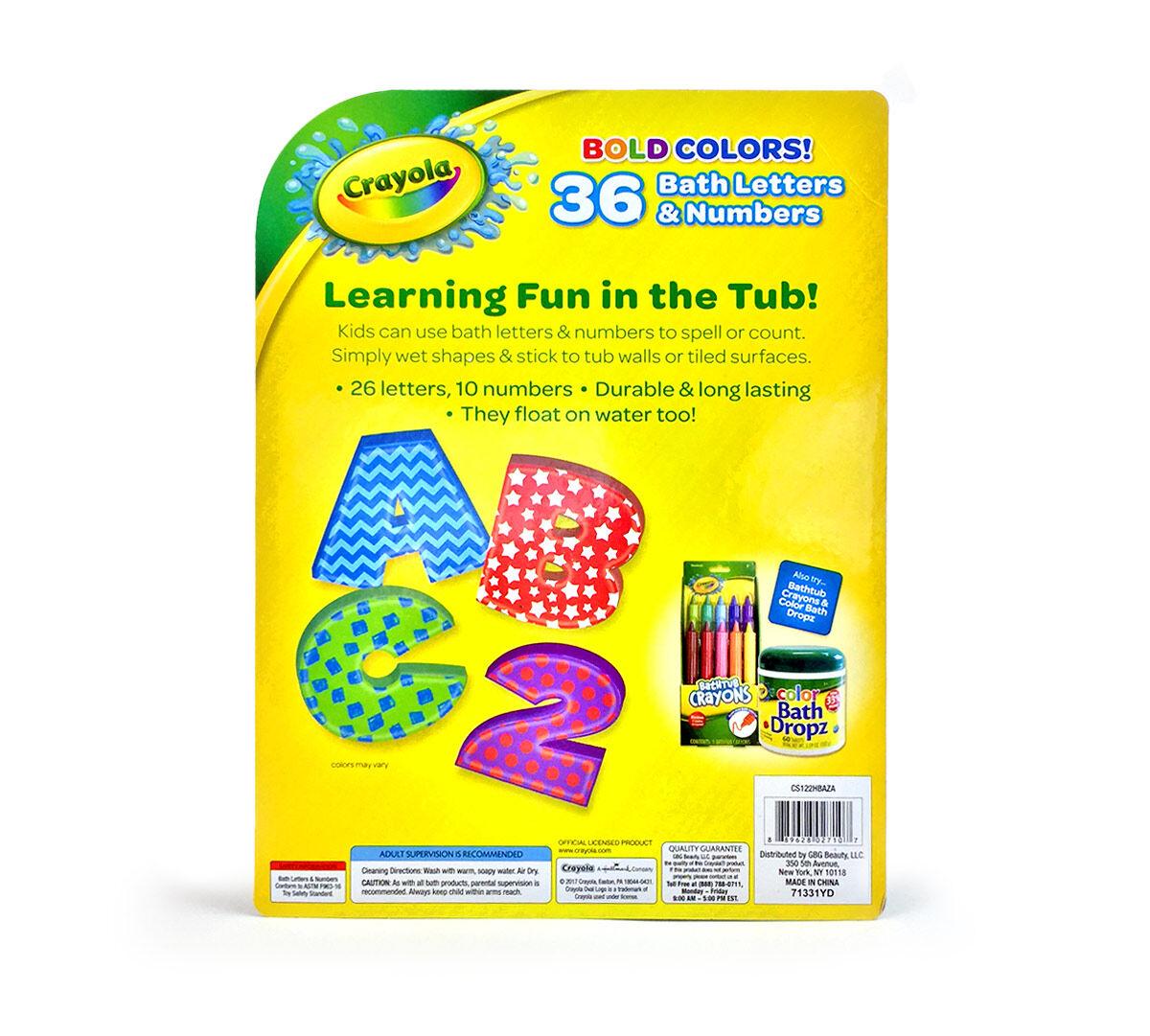 36 Foam Bath Letters Numbers Crayola