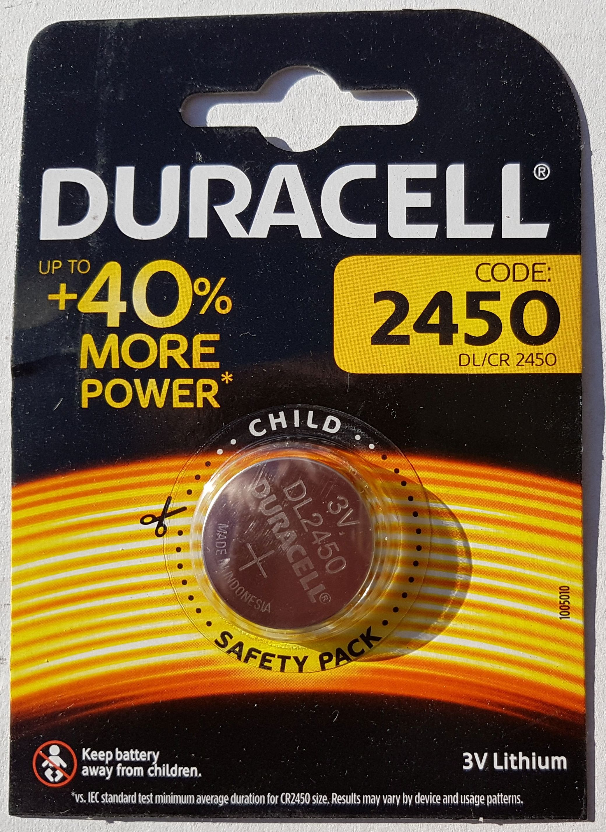 Lithium Knopfzelle Duracell Lithium Knopfzelle Cr2450 3 0v 600 Mah