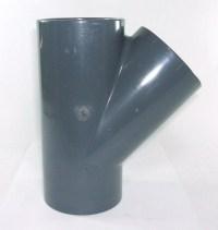 75mm PVC 45 Degree Tee | E J Woollard