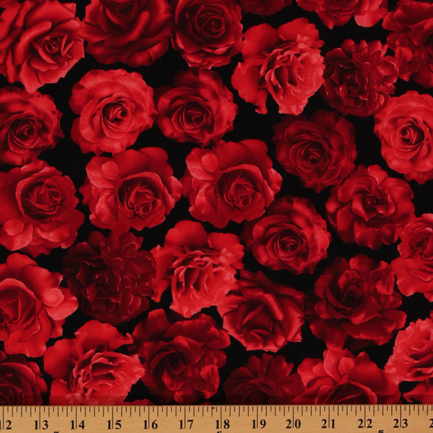 Black Velvet Damask Wallpaper Cotton Red Roses Blooms Flowers Black Valentine S Floral