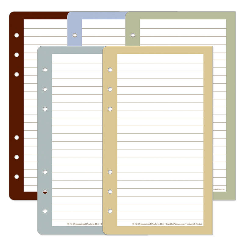 Color Wide Lined Pages - FranklinCovey - color lined paper