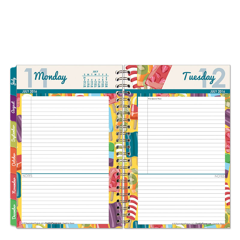 Sweet Life Wire-bound Six Month Planning Notebook - FranklinCovey