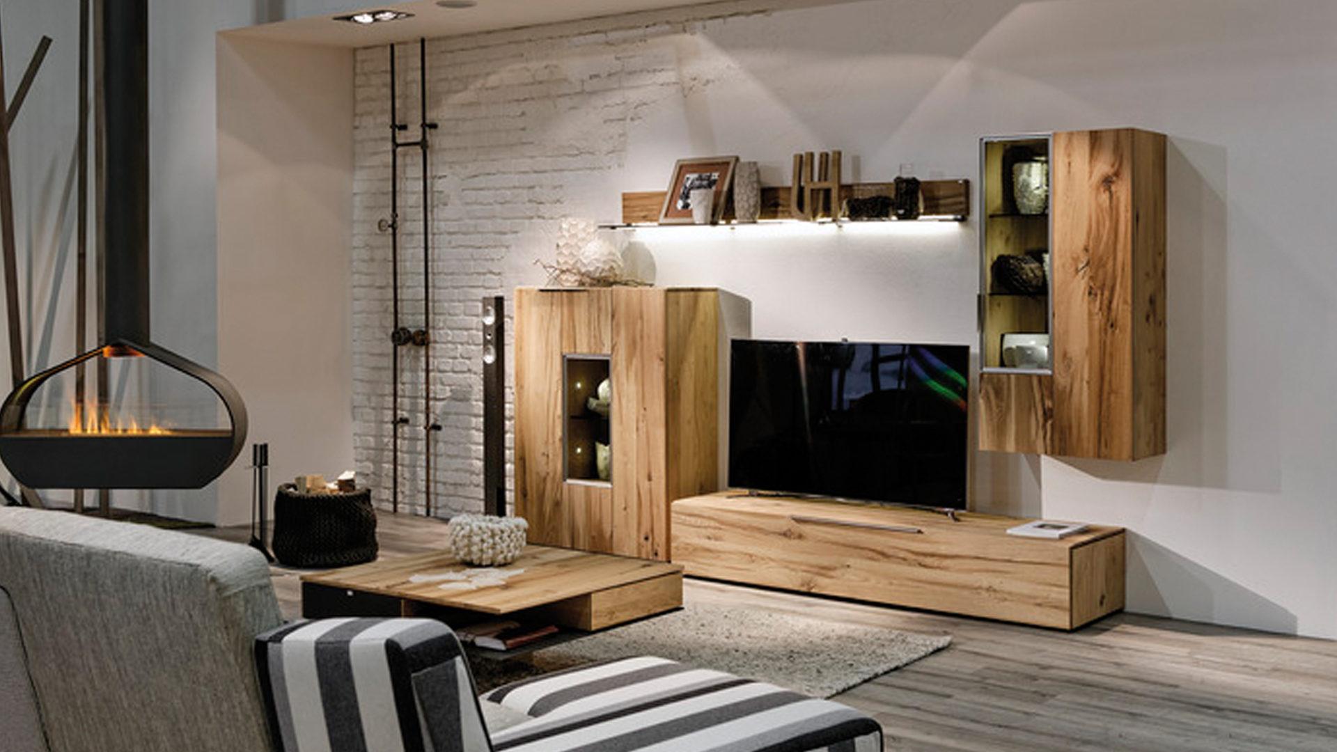 wohnzimmermobel aus altholz