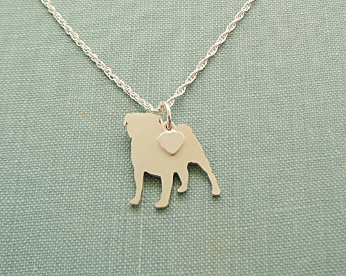 925 Sterling Silver Pug Dog Charm Necklace Layering