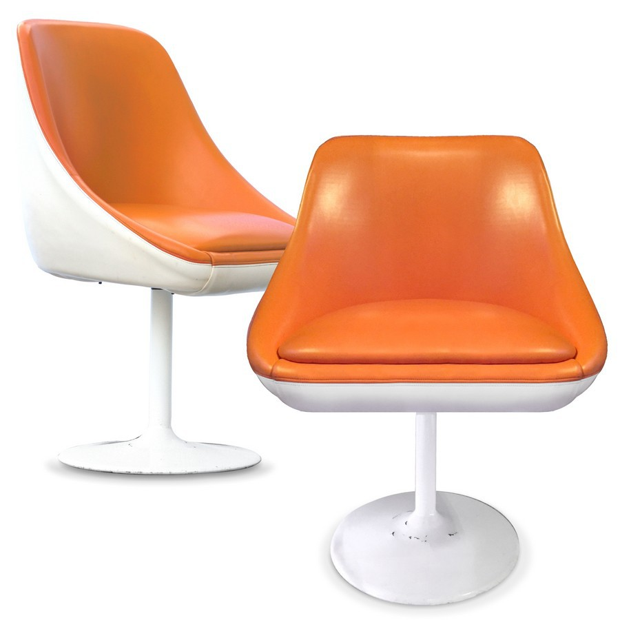 Designer Sessel Orange Stuhl Retro Sessel Ufo Design 70er Jahre