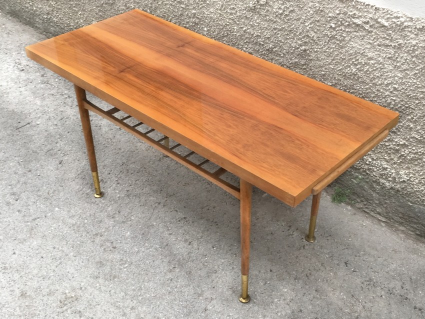 Couchtisch Danish Danish Coffee Table Mit Magazin Shelve Zeitungsablage 60s