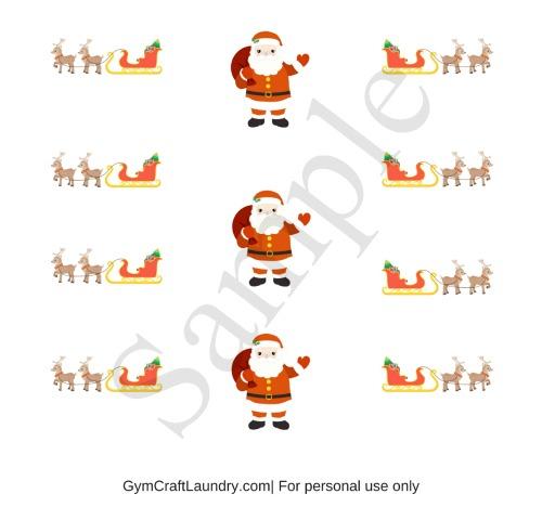 Printable Santa and Sleigh Stickers