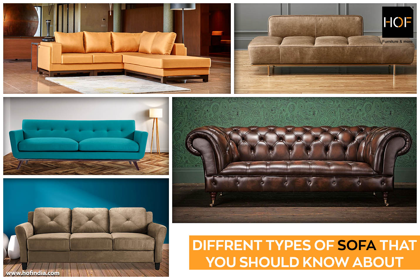5 Types Of Sofa That You Should Know About Hof India