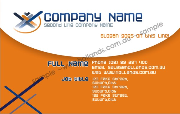 Business Card Template 032 - Business Cards Online