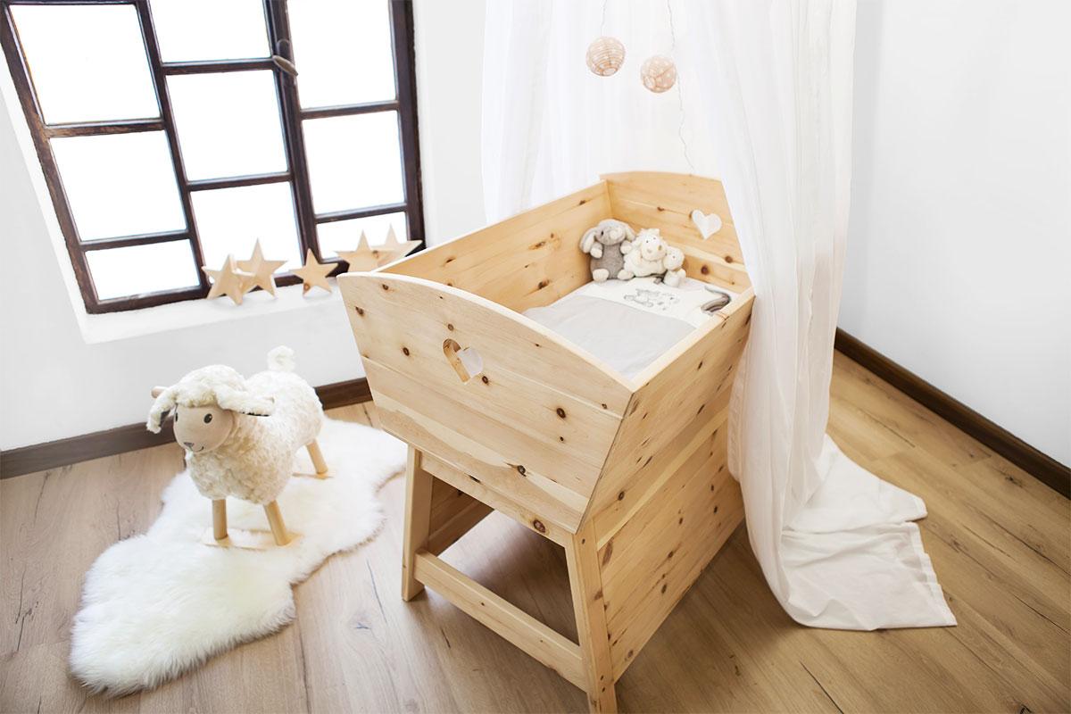 Stubenwagen holz set babywiege wickeltisch dav aus holz teranga shop