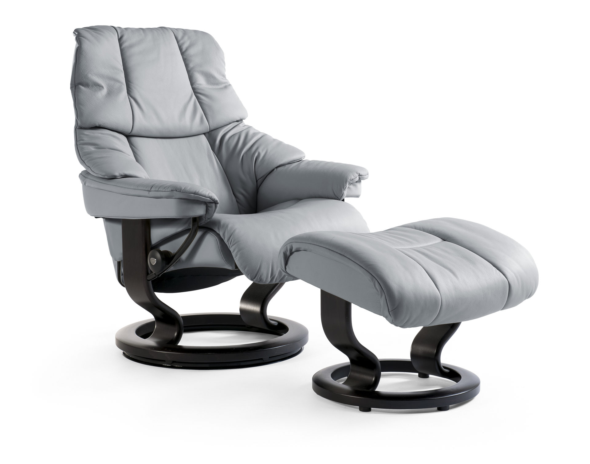 Stressless Sessel Pflege Stressless Reno Relaxsessel Mit Hocker Noblesse Grey Wenge Small