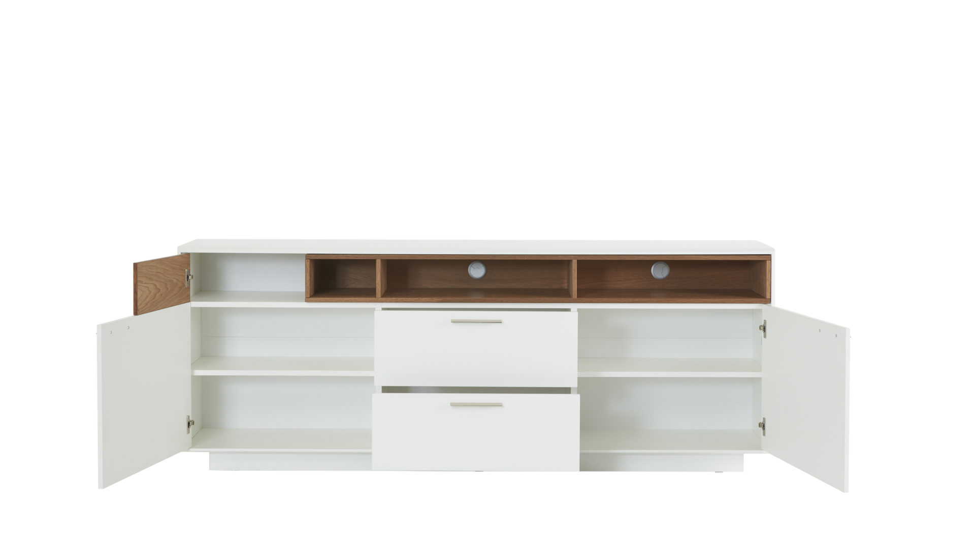 Offenes Sideboard Interliving Wohnzimmer Serie 2102 Sideboard 510266 Dunkles