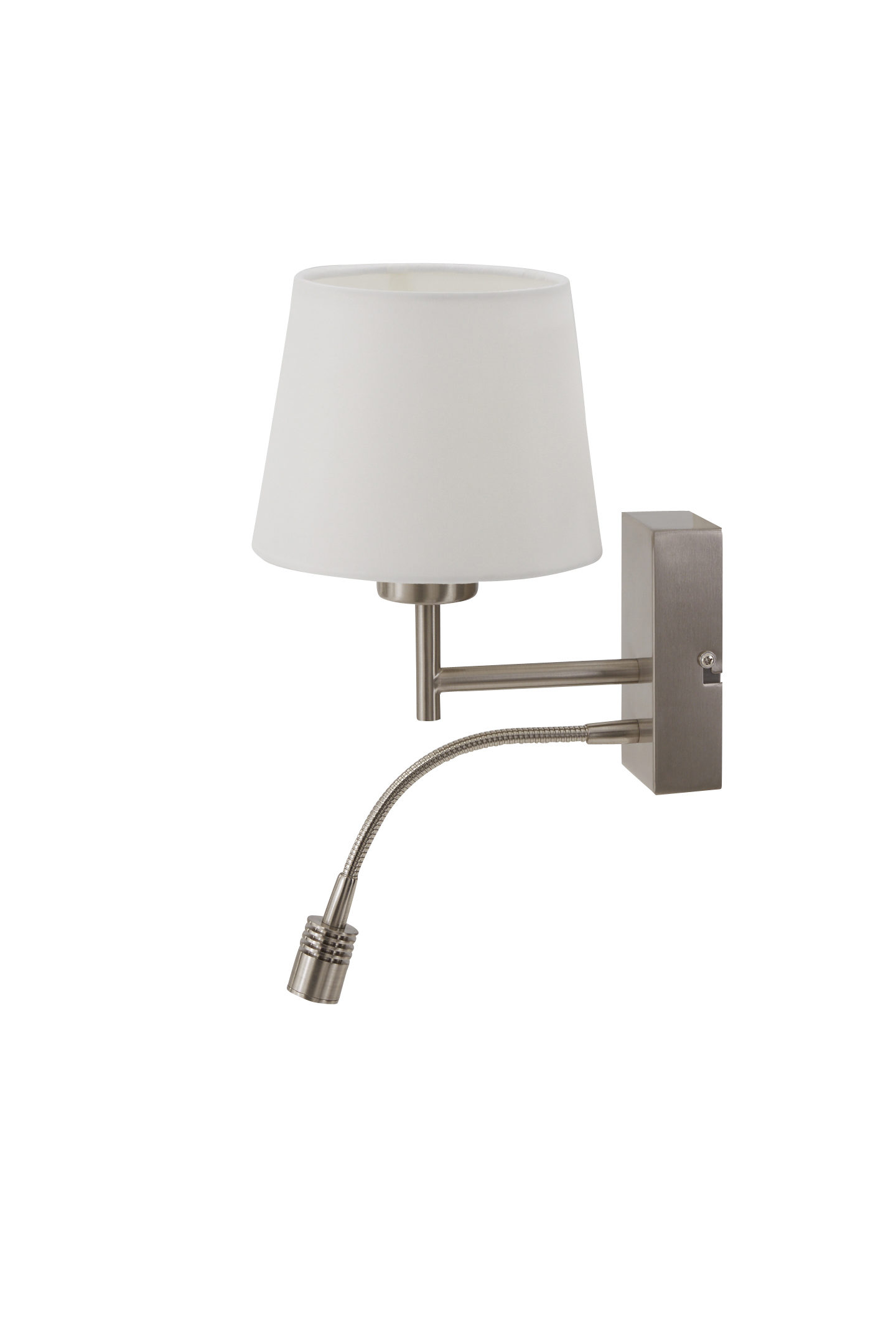 Chintz Sessel Interliving Leuchten Serie 9301 Wandleuchte Nickel Matt