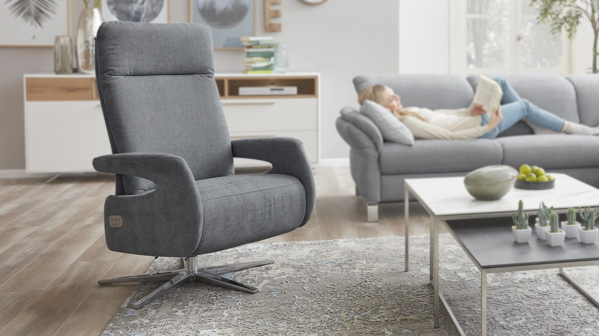 Relaxsessel Blau Interliving Sessel Serie 4510 Relaxsessel Jeansblauer Bezug