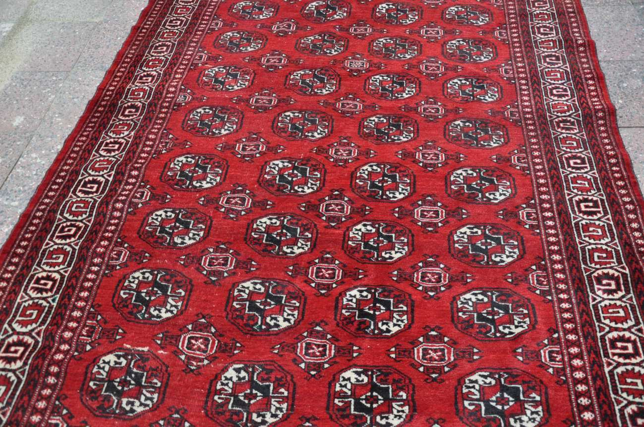 Afghan Teppich Old Hand Knotted Afghan Carpet 3 02 X 1 76 Cm Red