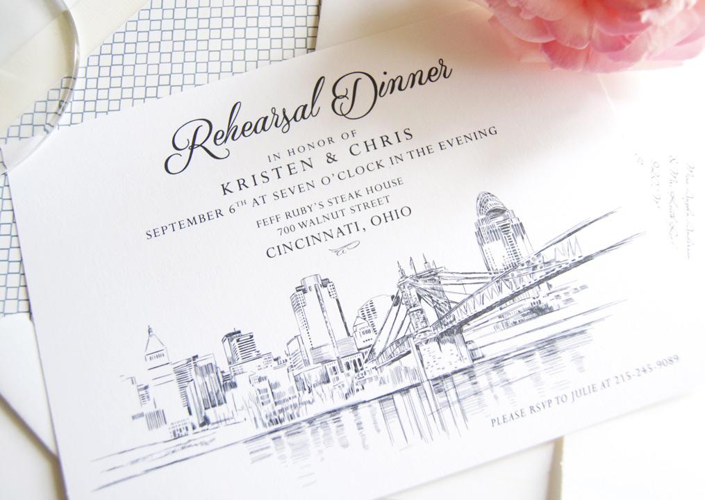 Cincinnati Rehearsal Dinner Invitations