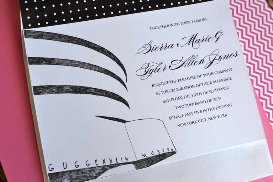 Guggenheim Museum Wedding Invitations