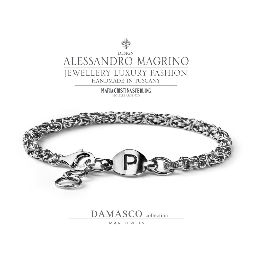 Italy Design Jewelry Men S Jewellery Bracelet Damasco Silver Made In Italy