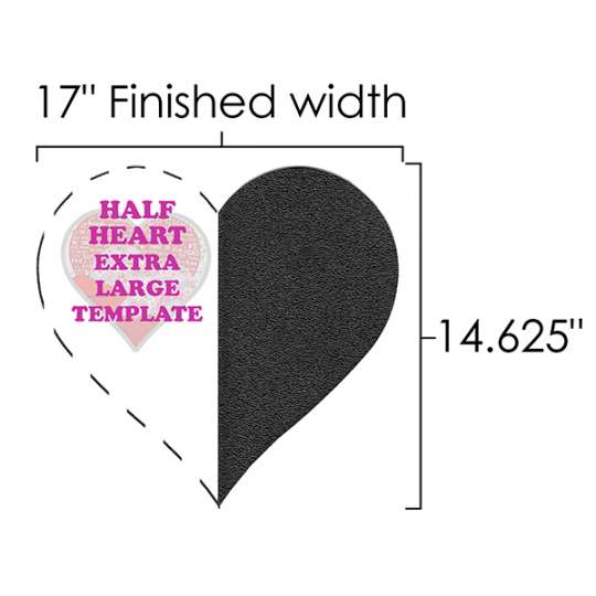 Half-Heart XL Template shopmartellinotions