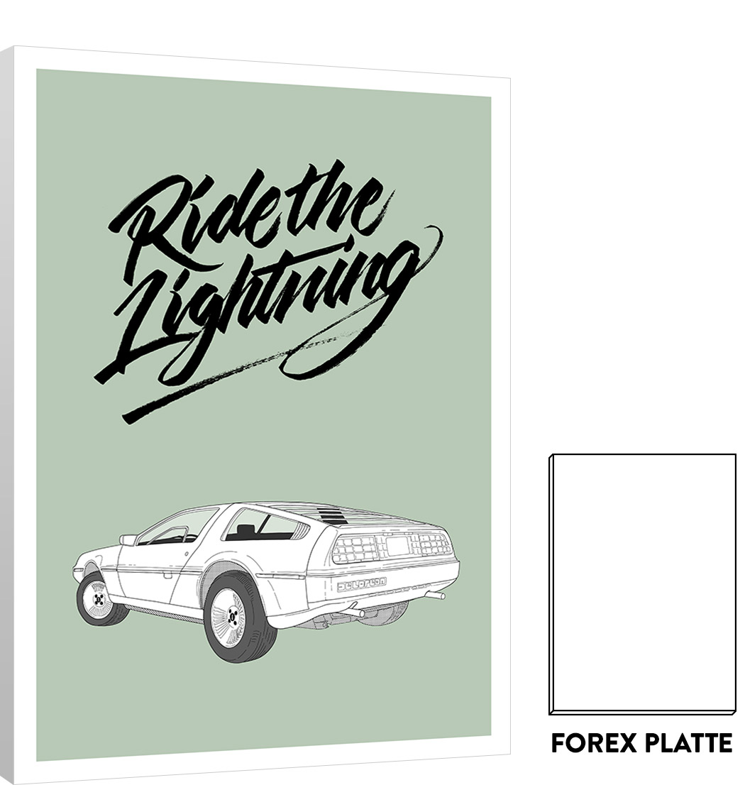 Forex Platte Cars Serie: Delorean – Forex | Matthias Rendl Illustration Shop