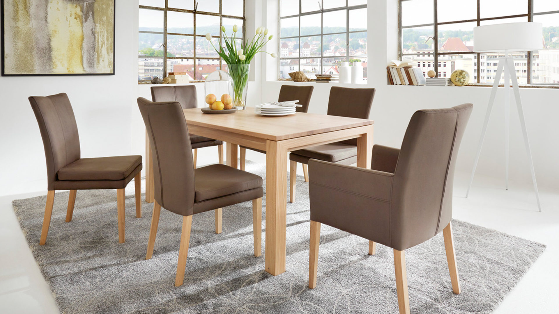 Möbel Eilers Apen Interliving Interliving Magazin Lavie Schwingstuhl Lavie Stuhl Color Line Als Komfortables Sitzmöbel Braune Mikrofaser Nirvana 906 Eiche Biancofarbenes Gestell
