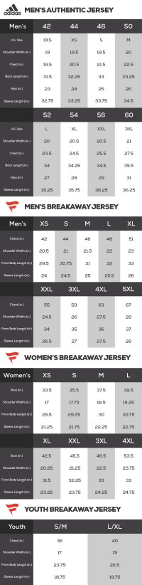 Reebok Nhl Replica Jersey Size Chart - Reebok authentic ...